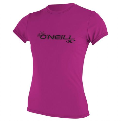 O'NEILL WOMENS RASH T SHIRT.SKINS UPF50+ SUN PROTECTION PINK VEST TOP 9S 547/173